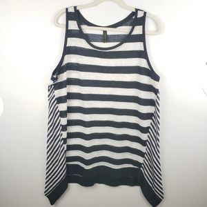 Lane Bryant Striped Shark Bite Tank Size 18/20